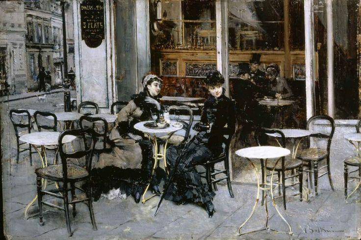 Boldini, Conversazione al caffè