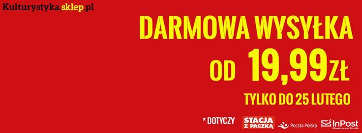 Od 19.99 zł realizujemy zamówienia e-przesyłką, na stacje Orlenu oraz do paczkomatu ZA DARMO! http://www.kulturystyka.sklep.pl/