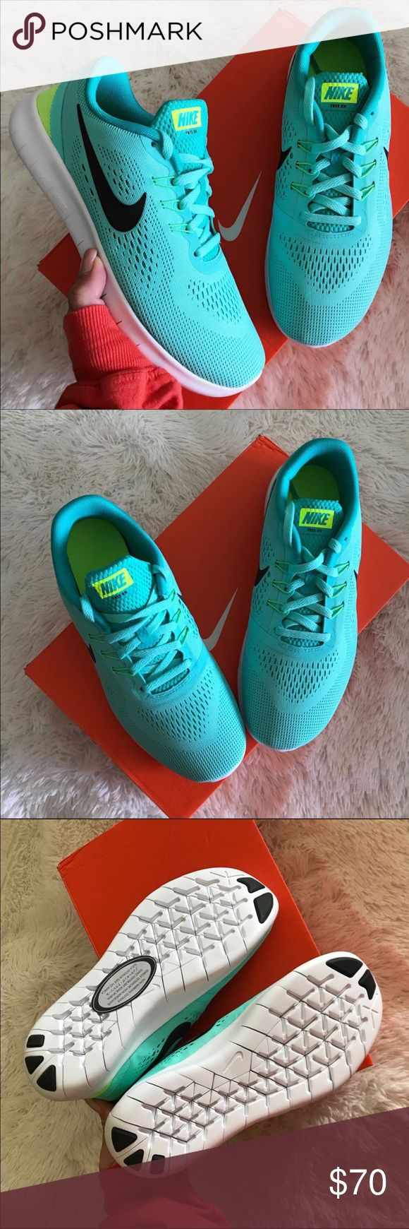 NEW 💠 NIKE FREE SZ 6.5 youth | FITS SZ 8 women BRAND NEW, NIKE FREE! Cute, cozy & comfy NIKES | LUXURIOUS TIFFANY COLOR! ✨💠 Original NIKE box no lid.   ORDER YOUR WOMANS SHOE SIZE 6.5 youth = 8 WOMEN  ALL SIZES LISTED ACCORDING TO NIKE'S SIZE CHART. PLEASE KNOW YOUR YOUTH SIZE PRIOR TO PURCHASING. ✨💠  Ships same or next day from my smoke free home.   PRICED FIRM, offers will be considered through the offer button only. Bundle to save. ✨ 💠  100% authentic & direct from NIKE Nike Shoes…