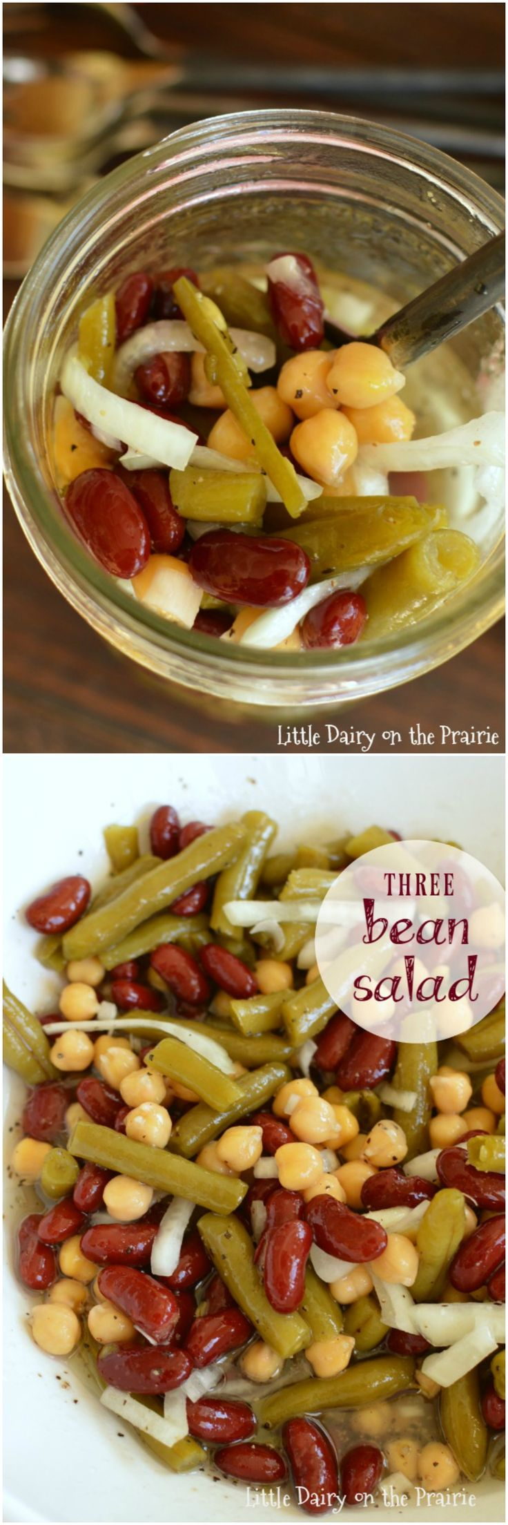 Three Bean Salad is one of my go to salads! I always have the ingredients in my pantry, its so easy to make, and every one raves about it!: