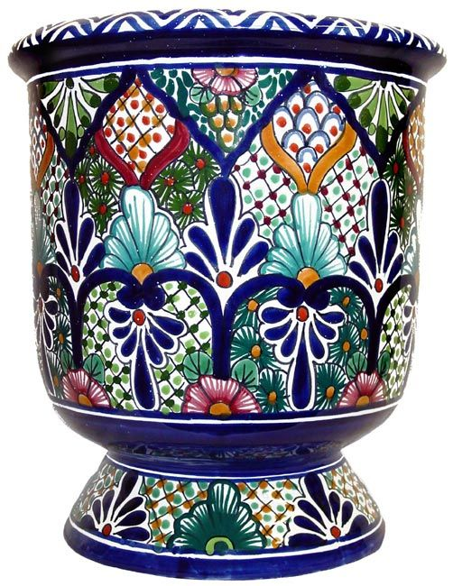 Talavera Planter. [ MexicanConnexionForTile.com ] #design #Talavera #handmade