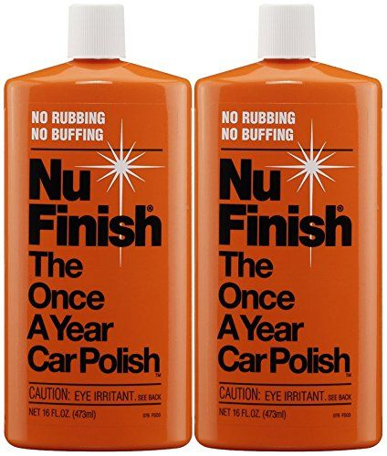 Nu Finish Once-A-Year Car Polish (16 oz) – 2 Pack