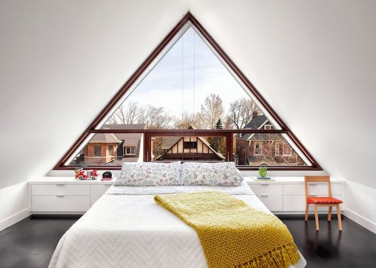 Victorian Era Home Is Completely Transformed With A Contemporary Triangular  Window
