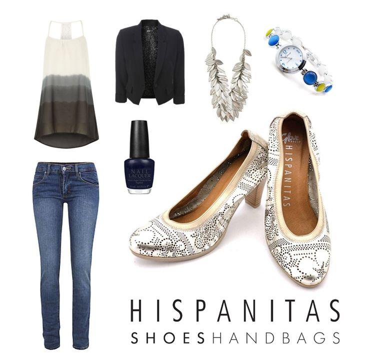 Hispanitas va  propune o tinuta casual chic, completata de pantofii argintii din piele naturala, perforata, cu model floral, perfecti pentru o zi de vara!    Nu rata promotia Hispanitas, acum poti achizitiona pantofii HIGH HEELS VIVIEN cu -30%!