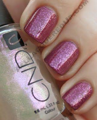 CND - Raspberry Sparkle (over CND Muddy Rose)