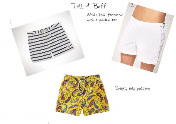Tall & Buff men's swimwear