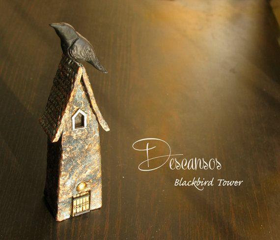 Descansos  Blackbird Guardian Tower  Single by bewilderandpine, $34.00
