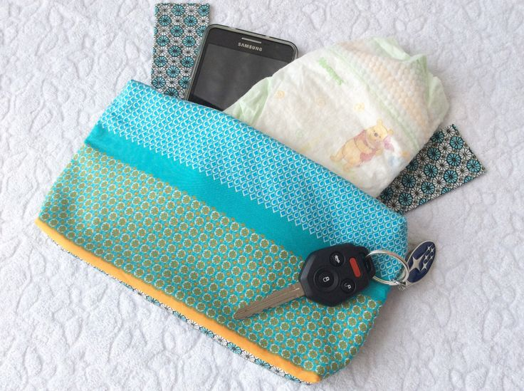 Ergo 360 sleek zipper pouch / purse / pocket / bag - Poplin in blue by mamietam on Etsy https://www.etsy.com/ca/listing/473585609/ergo-360-sleek-zipper-pouch-purse-pocket