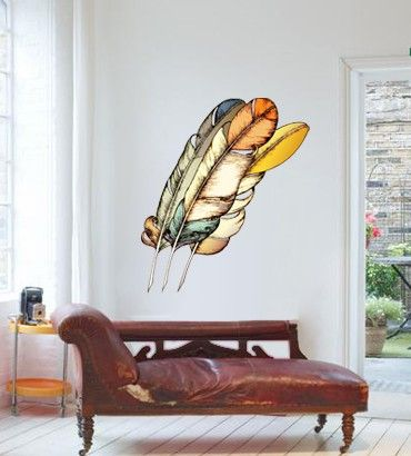 Streetwallz - Feathers Wall Decal, $95.00 (http://www.streetwallz.com/feathers-wall-decal/)