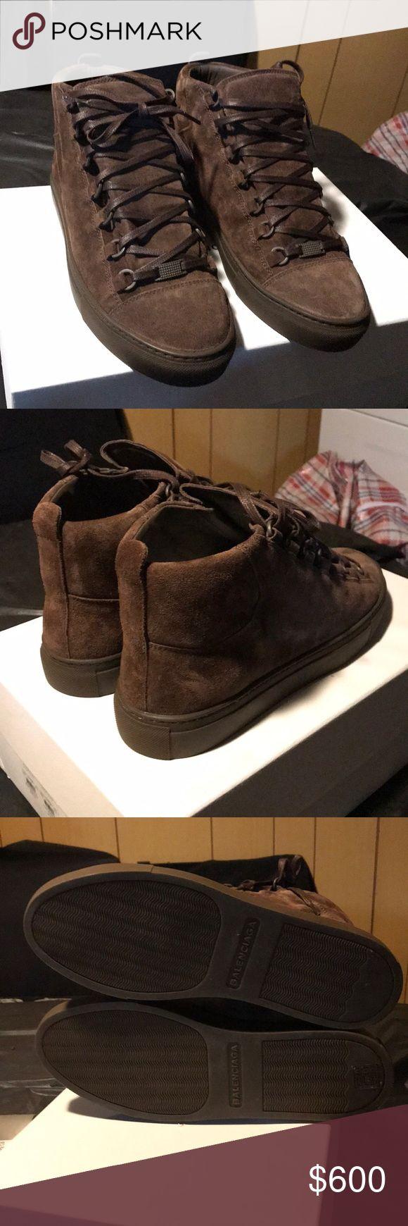Balenciaga arena high brown suede Fits sizes 8-9.5 —— EU 41 Balenciaga Shoes Sneakers