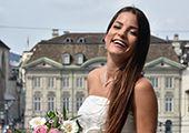 Hochzeits- und Cocktailkleider für Schwangere- Festliche Umstandsmode von Las Perlitas