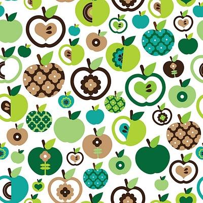apple juice crazy retro pattern