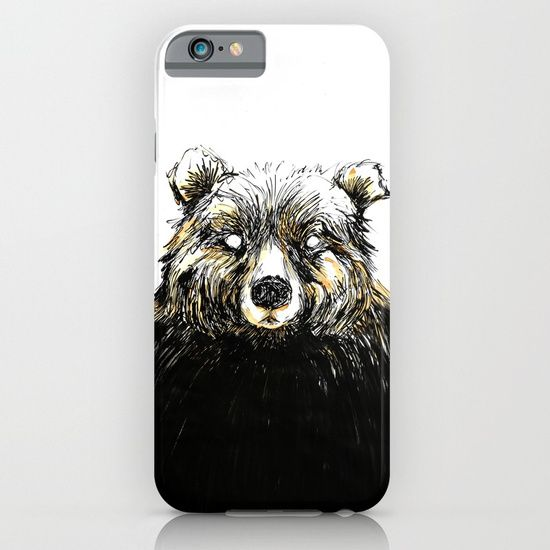 Cellphone case, drawing  graphite  ink/pen  acrylic   illustration  bear  coffee  forest   portrait  huge  hug  friend   serious