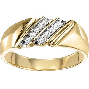 Men's 1/10 Carat T.W. Diamond Ring in 10kt Yellow Gold