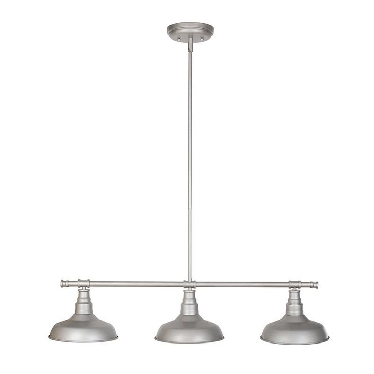 The Laurel Foundry Modern Farmhouse™ 3-Light Pendant features a modern design with metal shades. This pendant is used for industrial, dining room or kitchen lighting and adds a modern touch to your home or business. This model uses (3) 60 Watt medium base incandescent bulb (A19 Bulb type). The pendant is designed for ceiling mount applications. This unit is ETL/cETL Listed and suitable for indoor use. The Laurel Foundry Modern Farmhouse™ 3-Light Pendant comes with a 10-years limited warr...