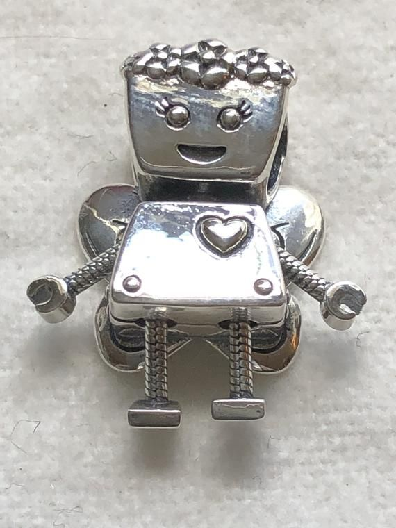 Robot Charm Silver LIMITED EDITION FLORAL BELLA BOT CHARM Bead 2019 NEW