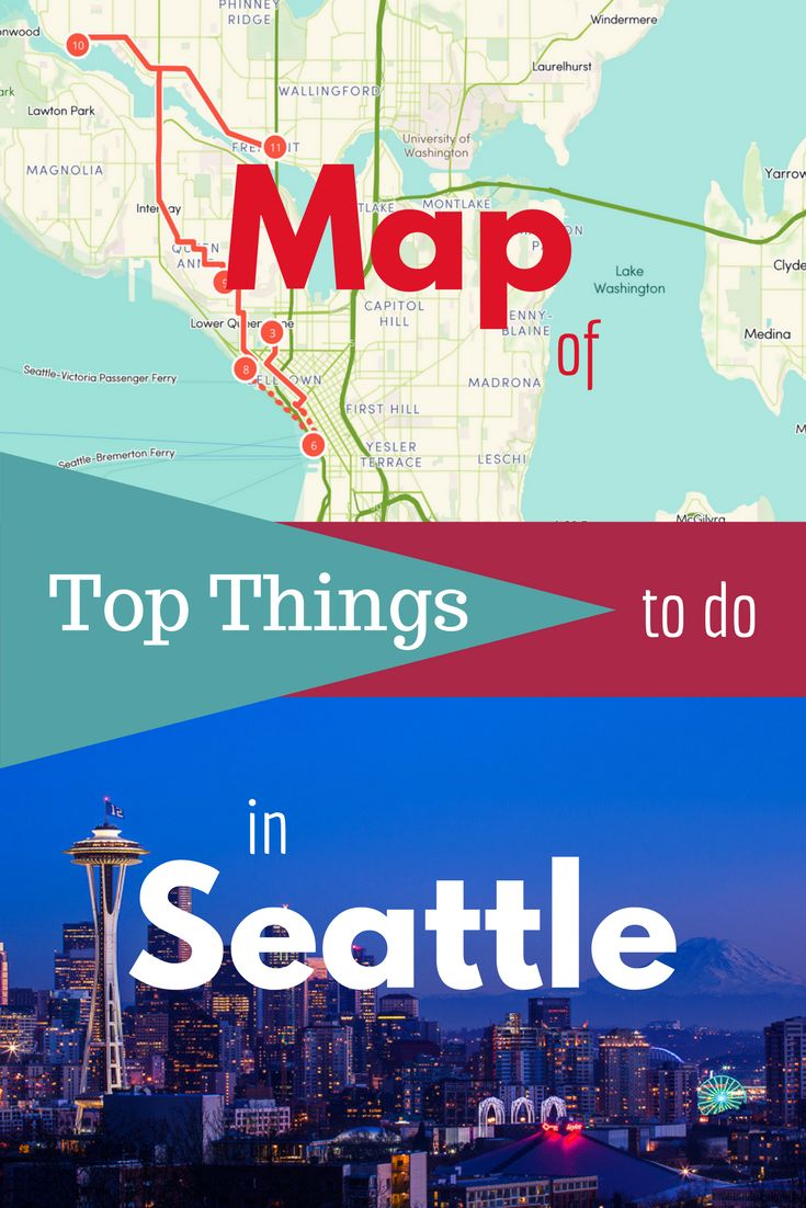 Route map of things to do in
