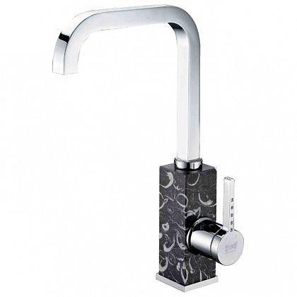 Однорычажный смеситель для кухни Zorg, h 300 мм, вынос 208 мм, хром ZR 370 Y NERO