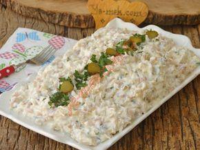 Köz Patlıcanlı Tavuk Salatası Resimli Tarifi - Yemek Tarifleri