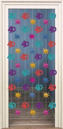 Feestartikelen 40 jaar, Deurgordijnen van 40 jaar. 5,50 euro