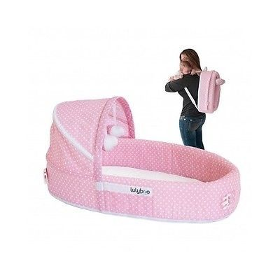 Portable Baby Bed Infant Crib Sleeper Backpack Playpen Travel Bassinet Pink New