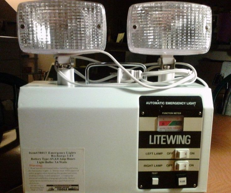 New hallway emergency power out automatic security light