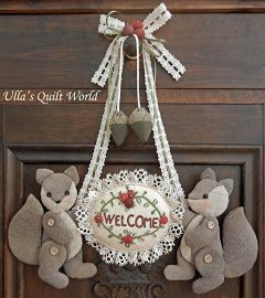 Quilted Welcome-plaque, Japanese Patchwork
