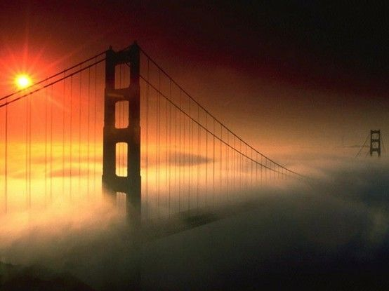 San Francisco, California and see the Golden Gate Bridge DID IT!! AUG