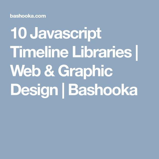 10 Javascript Timeline Libraries | Web & Graphic Design | Bashooka
