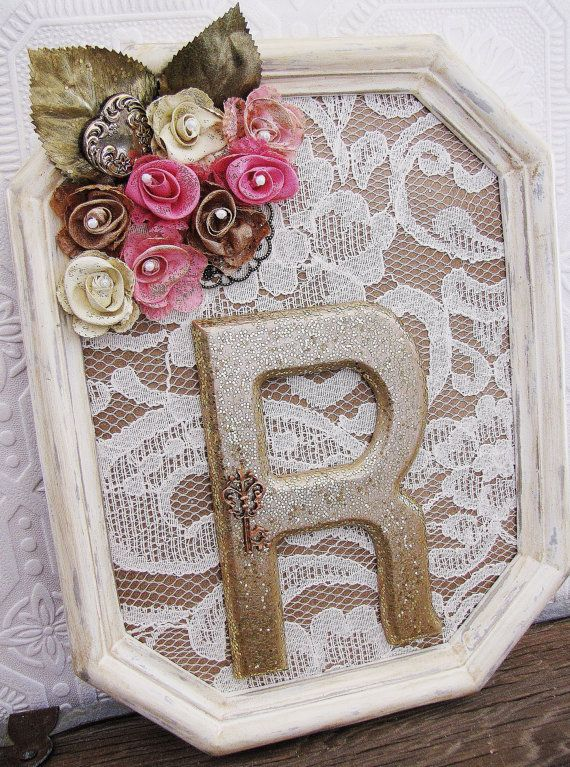 Baby Shower Decorations Nursery Art Baby Girl Nursery Pink Flowers Hearts Lace on Etsy, $55.00
