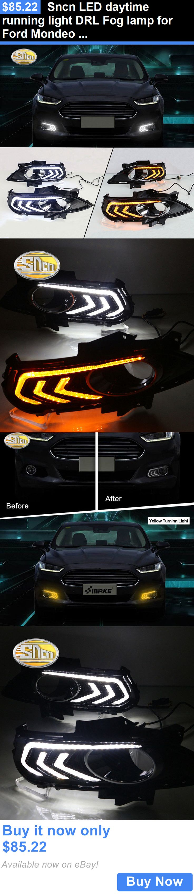 Motors parts and accessories sncn led daytime running light drl fog lamp for ford mondeo
