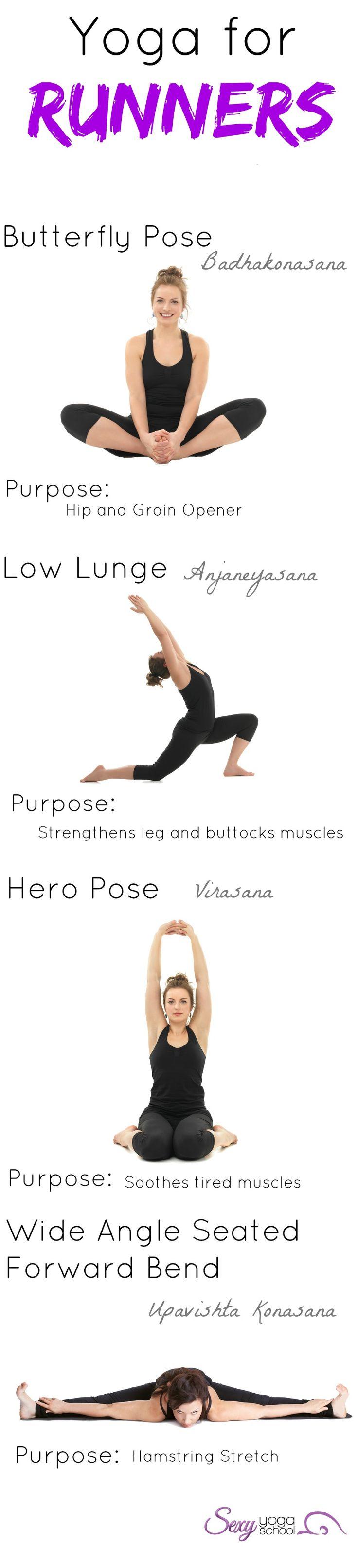 Yoga w/ Running = Better balance, strength and stamina.