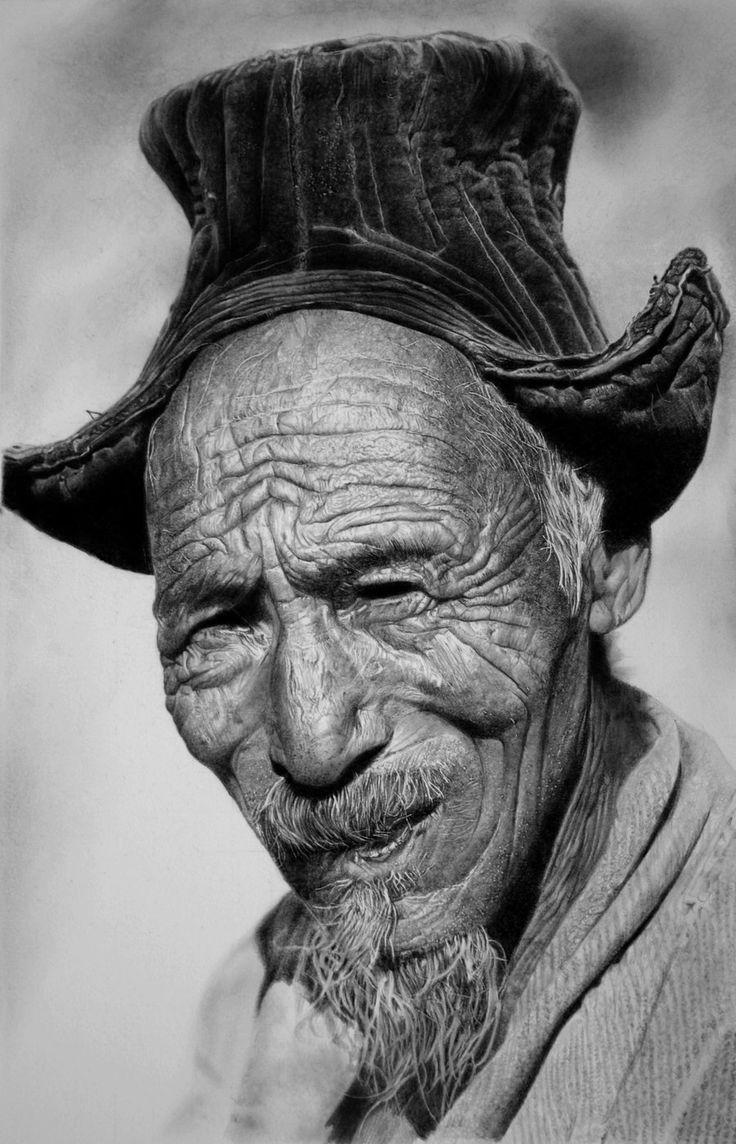Desenho realista do artista italiano Franco Clun