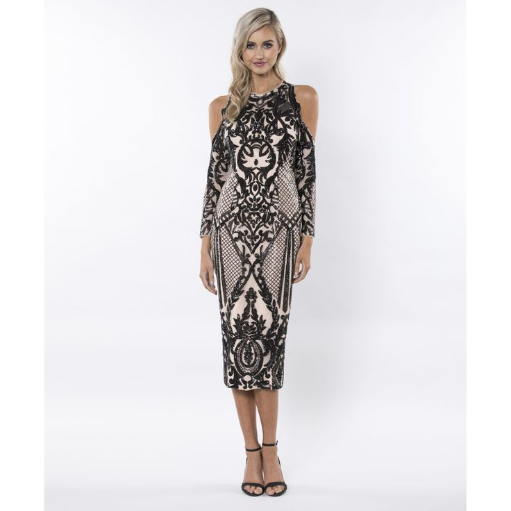 Bariano - It's Flawless Pattern Sequin Midi