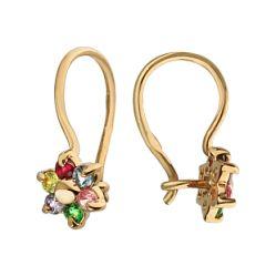 Купить детские золотые серьги ➤ http://zolotoy-standart.com.ua/catalog/sergi/zolotye-sergi-1-3-0821/