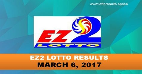 EZ2 LOTTO RESULTS MARCH 6, 2017 (MONDAY)