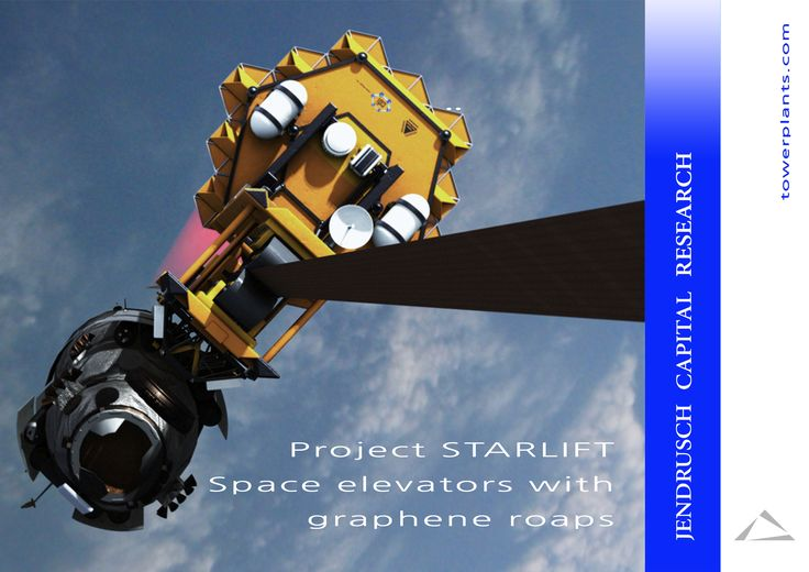 Project STARLIFT  Space elevators with graphene roaps