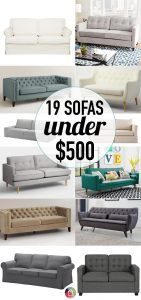 WHAT?! I thought affordable couches and affordable furniture in general were a pipe dream. But this blogger found some EPIC sofa deals out there. I may finally be able to fit a new couch into my budget.