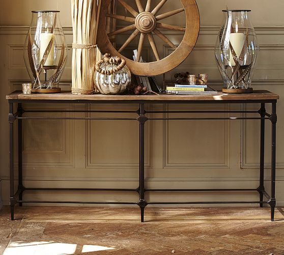 Sofa Tables Pottery Barn: Parquet Reclaimed Wood Console Table