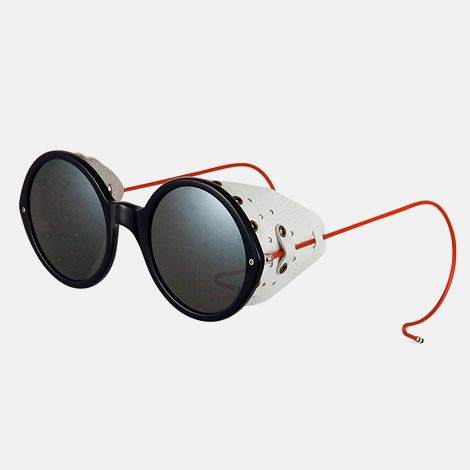 Cool sunglasses, handmade in Japan and taking inspiration from architecture and machinery of the mid-20th century, from Thom Browne in collaboration with California-based eyewear manufacturer, Dita.