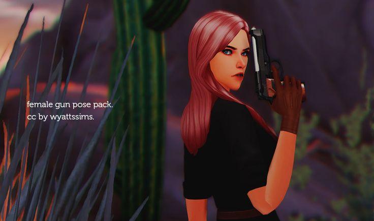 FEMALE GUN POSE PACK | Wyattssims