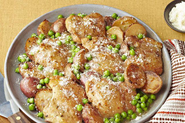 Poêlée de poulet à l'ail à la toscane