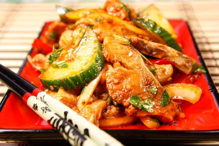 Хе-ча (Острая сырая рыба)  Heh-cha (Spisy raw fish)