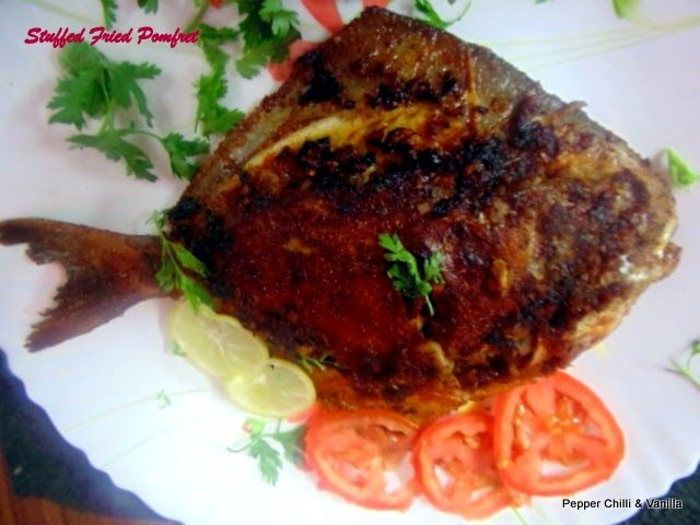 Pepper, Chilli and Vanilla: Stuffed  Fried Pomfret ..East Indian Style.
