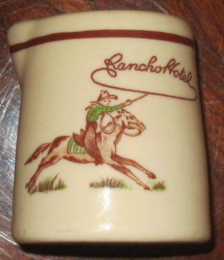 Vintage El Rancho Hotel Mini Creamer Very Nice Advertising Piece From Yesteryear | eBay