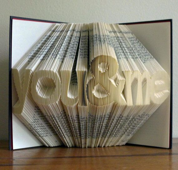 """Altered Book / Boyfriend Gift / Girlfriend Gift - Paper Anniversary - First Anniversary -""""you  me"""" - Folded Book Art on Etsy, $200.00"""