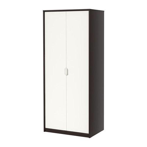 ASKVOLL Wardrobe, black black-brown, white black/white 80x52x189 cm