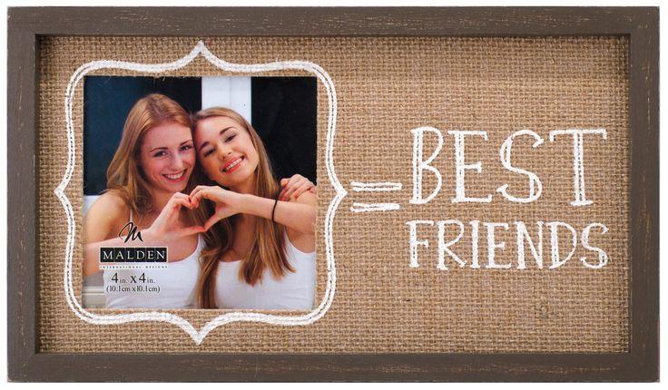 Best Friends Burlap Picture Frame