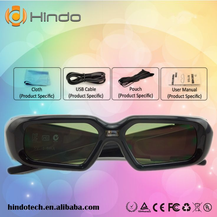 DLP-Link Active Shutter 3D glasses for Optoma BenQ Acer Viewsonic Dell Projector 144hz dlp link 3d projector glasses //Price: $64.87     #socialenvy