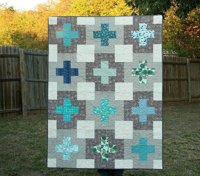 Double Plus Quilt by QuiltsByEmily, via Flickr